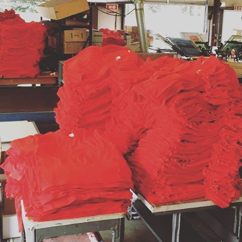 A sea of RED shirts!! Thank you @adeccousa!! #brandedapparel #dunstangroup