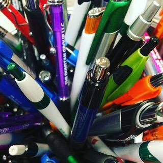 Pens, pens, pens.